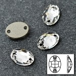 14x10mm  Crystal Oval Sew-on Stone by pc, DON-3063